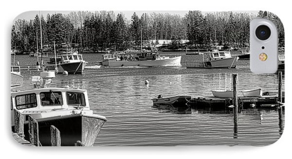IPhone Case featuring the photograph Fishing Boats In Friendship Harbor In Winter by Olivier Le Queinec