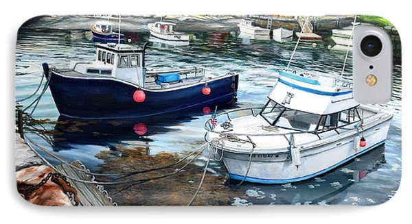 Fishing Boats In Lanes Cove Gloucester Ma IPhone Case