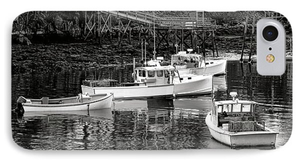 IPhone Case featuring the photograph Fishing Boats In Maine Port by Olivier Le Queinec