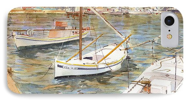 Fishing Boats In Skopelos IPhone Case by David Gilmore