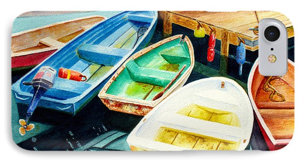 Fishing Boats Phone Case by Karen Fleschler