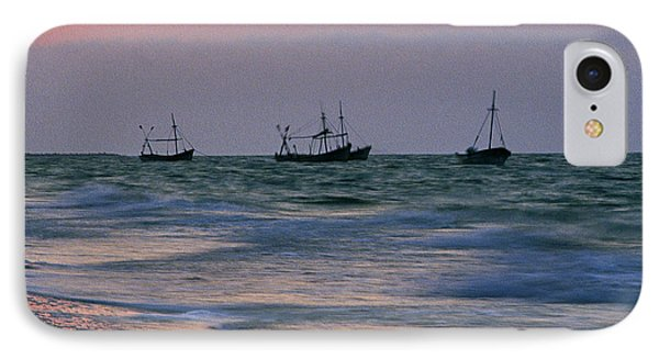 Fishing Boats IPhone Case by Michael Mogensen