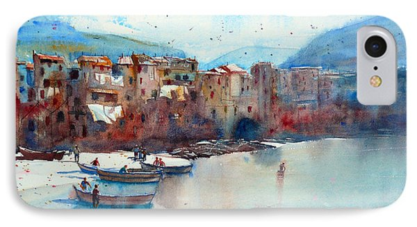 Fishing Boats On The Beach Of Cefalu Phone Case by Andre MEHU