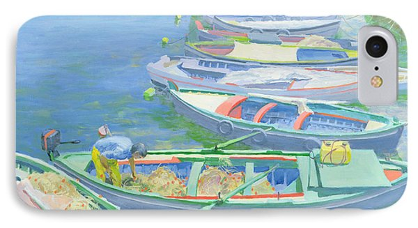 Fishing Boats IPhone Case by William Ireland
