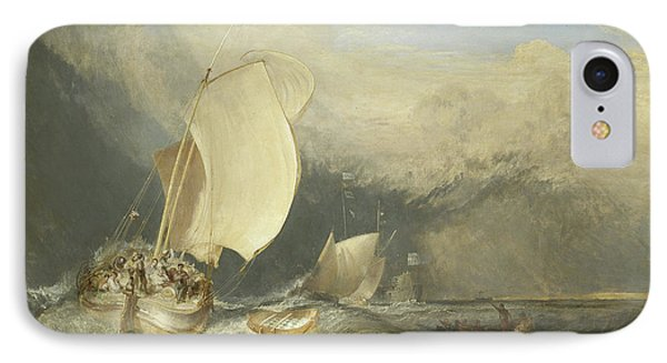 Fishing Boats With Hucksters Bargaining For Fish IPhone Case by Joseph Mallord William Turner