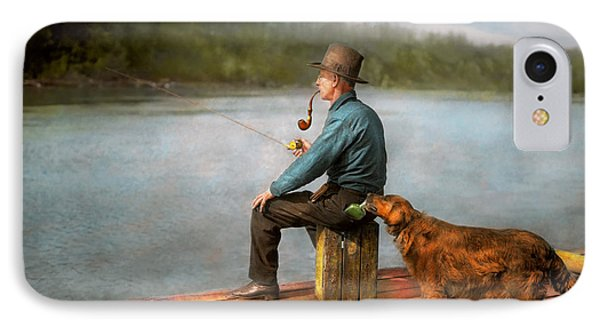 Fishing - Booze Hound 1922 IPhone Case by Mike Savad
