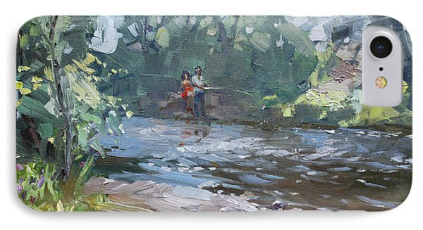 Fishing Day With Viola IPhone Case by Ylli Haruni