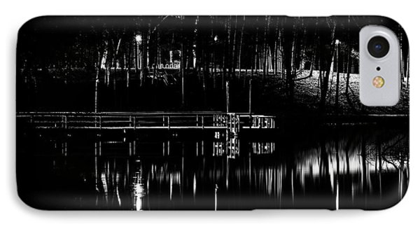 IPhone Case featuring the photograph Fishing Dock At Night 2017  by Thomas Young