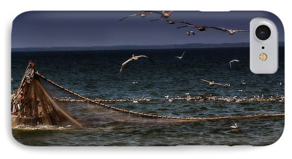 Fishing For Menhaden On The Chesapeake Bay IPhone Case by Glenn Gemmell