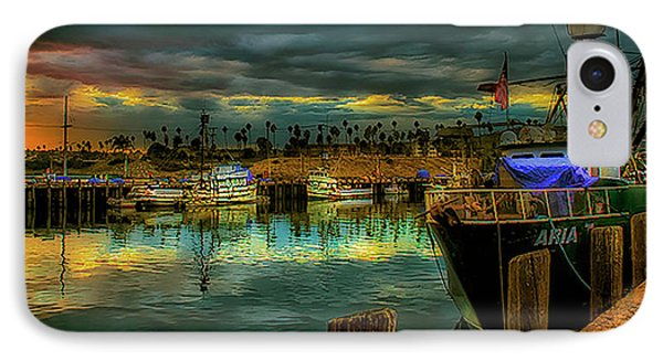 Fishing Harbor At Sunset IPhone Case by Joseph Hollingsworth