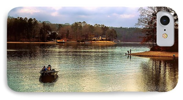 IPhone Case featuring the photograph Fishing Hot Springs Ar by Diana Mary Sharpton