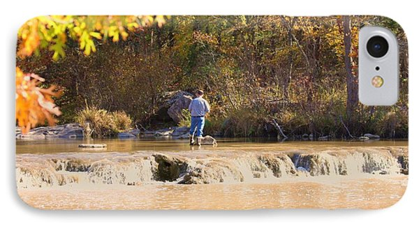 IPhone Case featuring the photograph Fishing In Fall by Sheila Brown