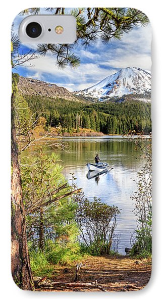 IPhone Case featuring the photograph Fishing In Manzanita Lake by James Eddy