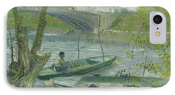 Fishing In Spring, The Pont De Clichy IPhone Case by Vincent Van Gogh
