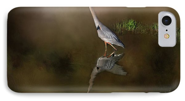 IPhone Case featuring the photograph Fishing In The Fog by Donna Kennedy