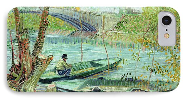 Fishing In The Spring Phone Case by Vincent Van Gogh