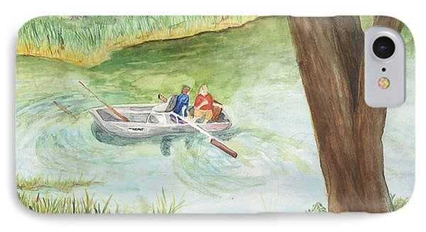 IPhone Case featuring the painting Fishing Lake Tanko by Vicki  Housel