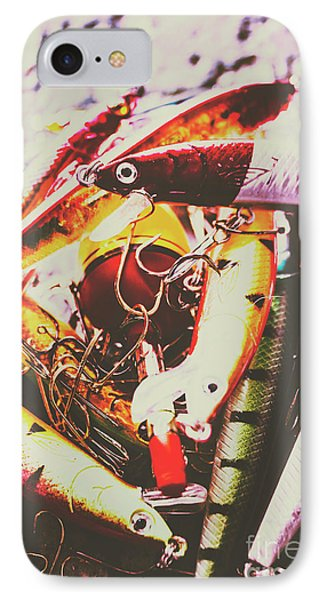 Fishing Lures IPhone Case by Jorgo Photography - Wall Art Gallery