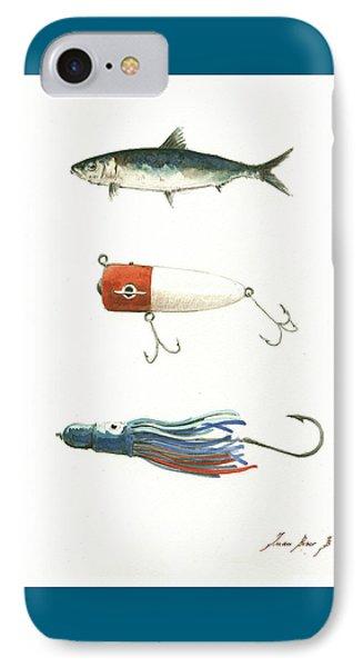 Fishing Lures IPhone Case by Juan Bosco