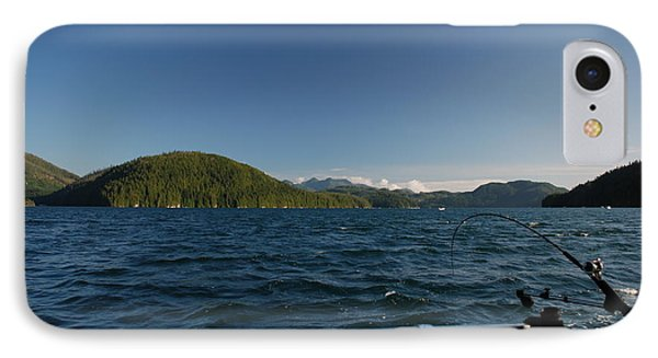 Fishing Off Hisnit Inlet IPhone Case