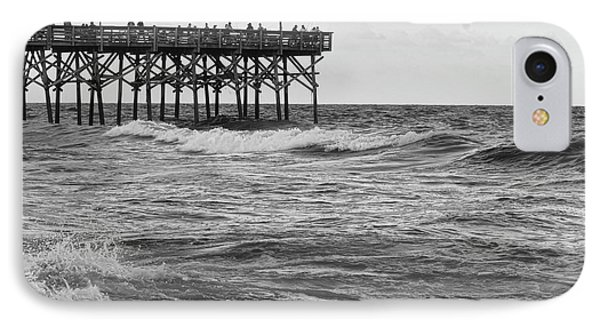 IPhone Case featuring the photograph Fishing Off The Pier At Myrtle Beach by Chris Flees