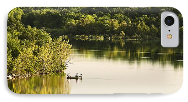 IPhone Case featuring the photograph Fishing On Mountain Lake by Tamyra Ayles