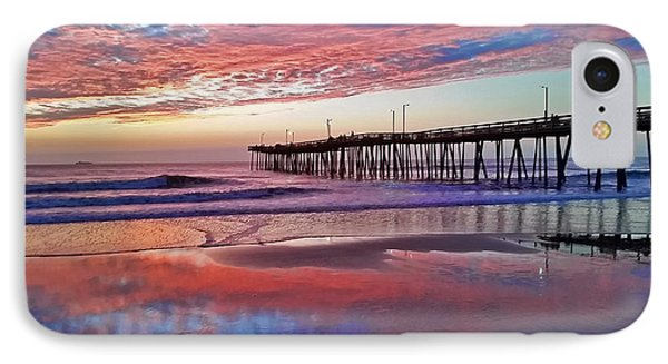 Fishing Pier Sunrise IPhone Case by Suzanne Stout