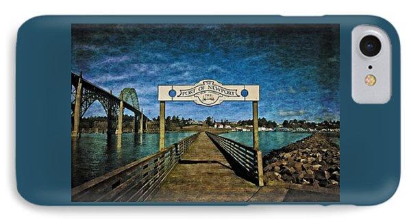 Fishing Pier IPhone Case by Thom Zehrfeld