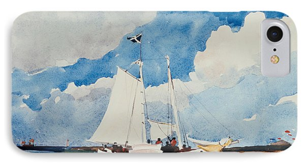 Fishing Schooner In Nassau IPhone Case by Winslow Homer