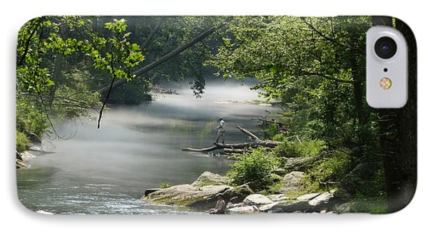 IPhone Case featuring the photograph Fishing The Gunpowder Falls by Donald C Morgan