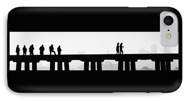 Fishing The San Francisco Skyline IPhone Case