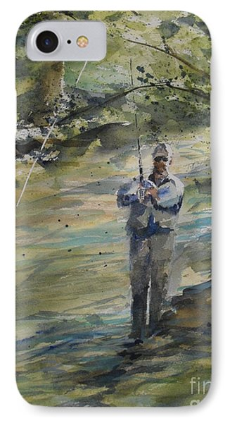 IPhone Case featuring the painting Fishing The Sturgeon by Sandra Strohschein