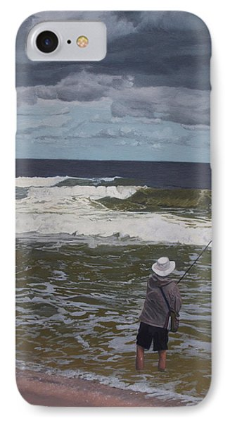 Fishing The Surf In Lavallette, New Jersey IPhone Case