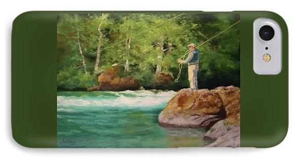 Fishing The Umpqua IPhone Case by Nancy Jolley