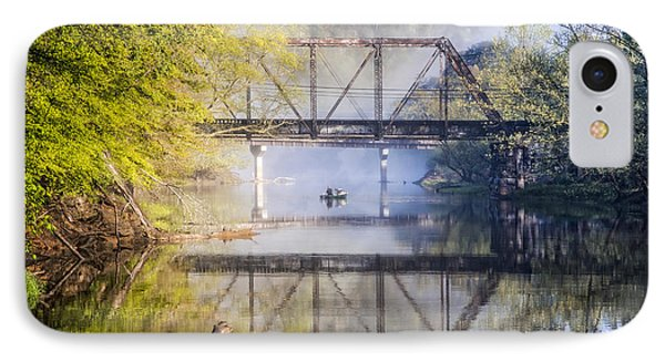 Fishing Under The Trestle IPhone Case by Debra and Dave Vanderlaan