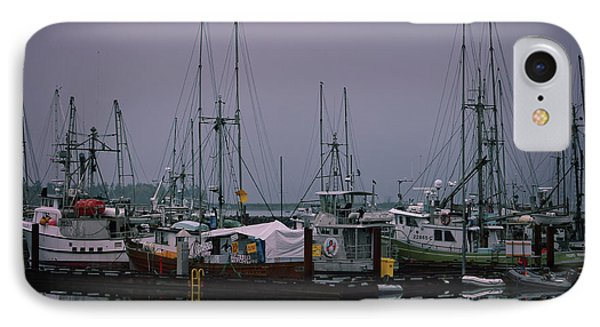 Fishing Wharf In Clearing Mist IPhone Case