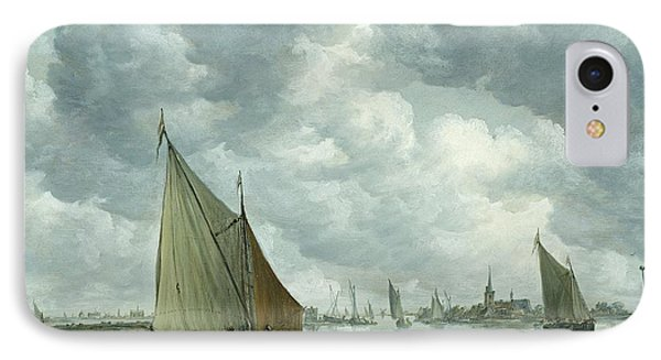Fishingboat In An Estuary Phone Case by Jan Josephsz van Goyen