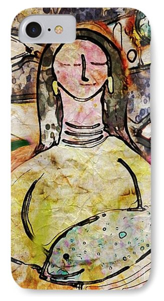 IPhone Case featuring the digital art Fishmonger's Wife by Alexis Rotella