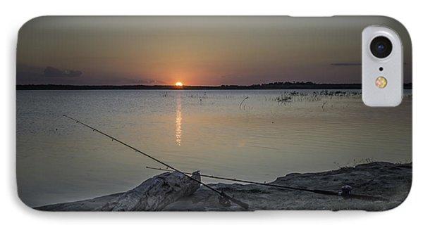 Fishing Poles IPhone Case by Leticia Latocki