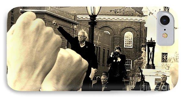 Fists Up, Bernie Sanders, New Haven, Ct IPhone Case by Dani McEvoy