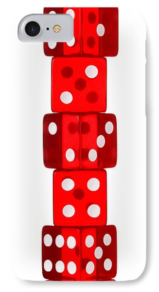 Five Dice Stack Phone Case by Richard Thomas