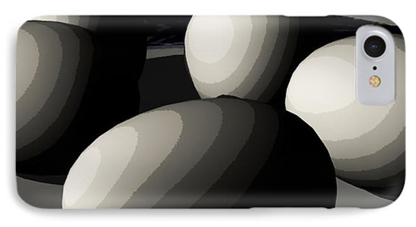Five Eggs  IPhone Case by James Barnes
