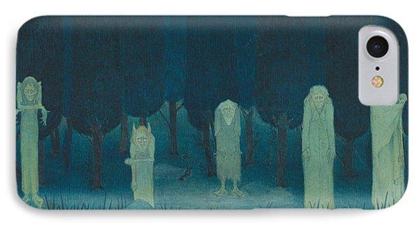 Five Ghouls IPhone Case by Herbert Crowley
