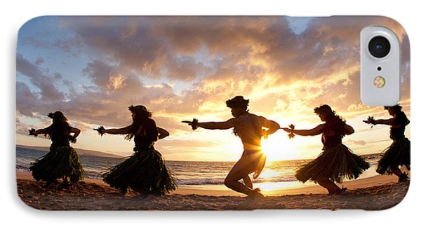 Five Hula Dancers On The Beach Phone Case by David Olsen