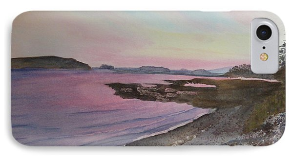 IPhone Case featuring the painting Five Islands - Draft IIi by Joel Deutsch