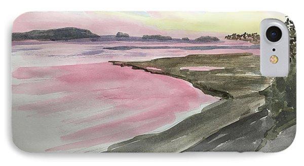 Five Islands - Watercolor Sketch  IPhone Case by Joel Deutsch