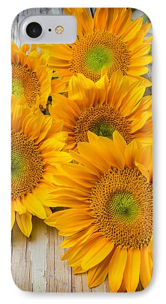 Five Moody Sunflowers IPhone Case by Garry Gay