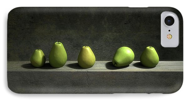 Still Life iPhone 7 Case - Five Pears by Cynthia Decker