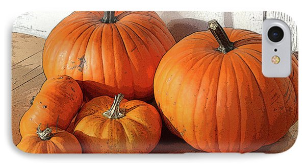Five Pumpkins IPhone Case