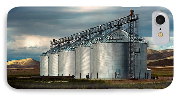 Five Silos On The Plains Of The Texas Panhandle IPhone Case